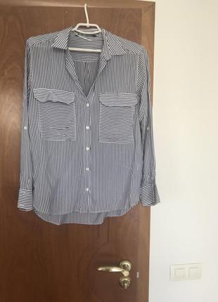 Блуза - рубашка в полоску
