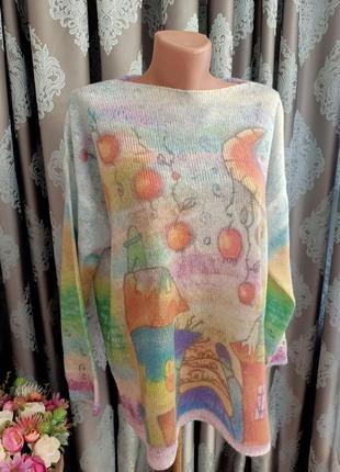 Дизайнерский свитер, джемпер, пуловер. 1+1= 50% скидки на 3ю вещь.