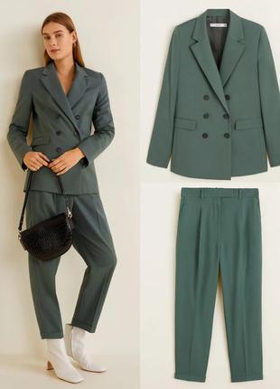 Пиджак блейзер жакет брюки штаны брючный костюм двойка mango😍zara h&m reserved massimo dutti винтажный