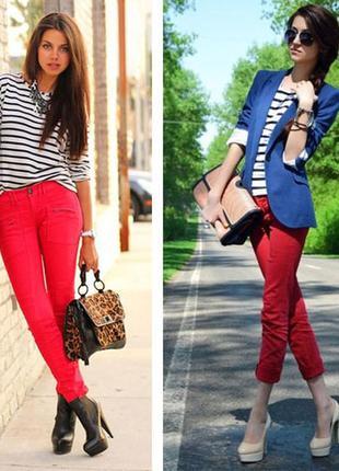 Укороченные штаны джинсы брюки