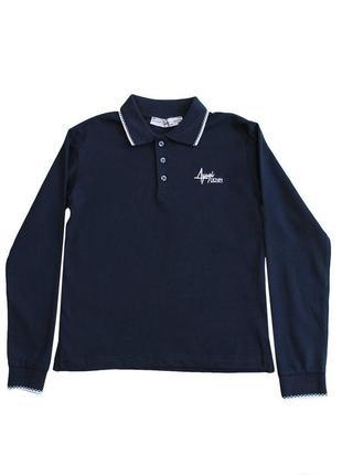 Поло синього кольору для хлопчика a-yugi jeans
