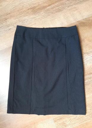 Классическая деловая юбка в мелкую полосочку.