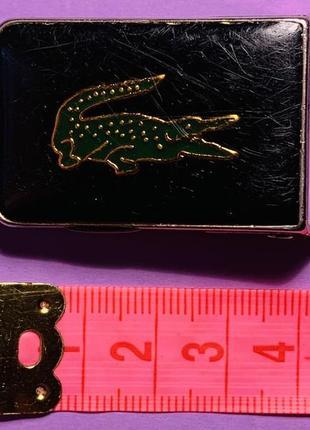 Винтажная металическая пряжка для тонкого ремня lacoste
