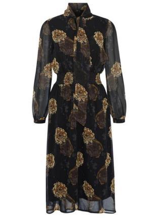 F&f шифоновое платье в большие цветы