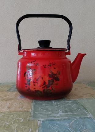 Эмалированный чайник ссср 3 л