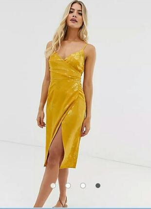 Стильное темно желтое платье, new look, размер xs-s
