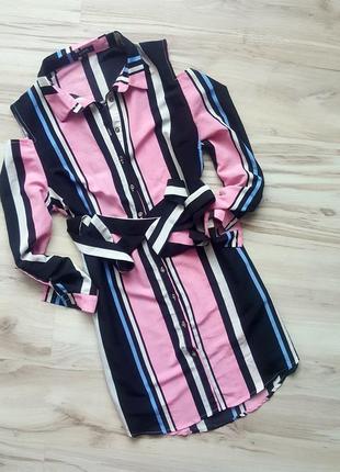 Платье рубашка,открытые плечи  zara