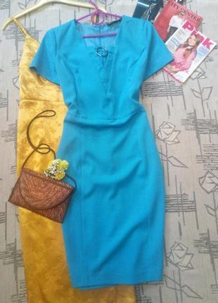 Элегантное аквамариновое платье, bodyflirt, размер 10-12