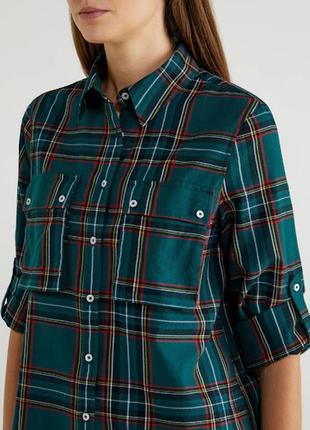 Стильная фланелевая рубашка оверсайз benetton