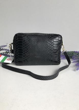 Сумка женская - клатч из натуральной кожи,  производство италия