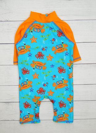 Солнцезащитный костюм/комбинезон для пляжа/купания, для мальчика 9-12 мес.