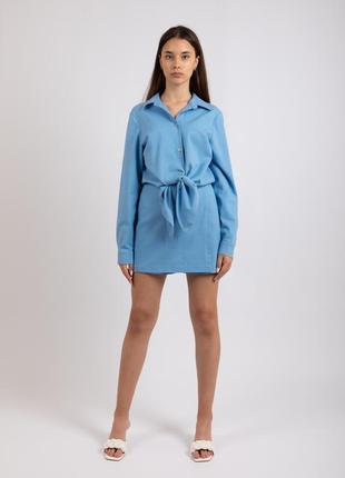 Льняная рубашка на завязках merlini