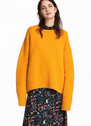 Теплый свитер из шерсти альпаки, h&m, на средний и высокий рост