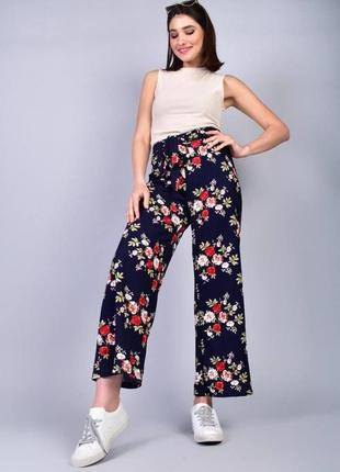Мега стильные легкие брюки-кюлоты