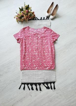 Натуральная блуза натуральна блузка малиновая блуза