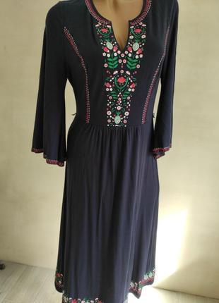 Платье -вышиванка,вискозное платье