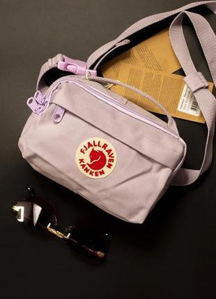 Нежно розовая удобная сумка на пояс fjallraven