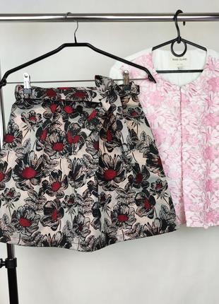 Стильная брендовая юбка с поясом y-clú этикетка