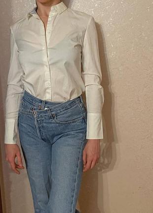 Приталенная рубашка хлопок