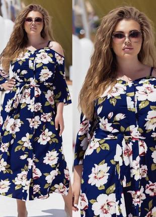 Платье 💙большие размеры ✅