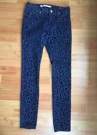 Джинсы - брюки zara с напылением узкие