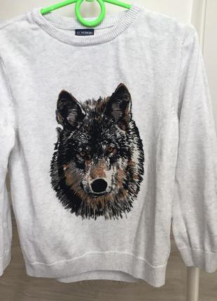Кардиган школьный кофта волк lc waikiki