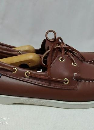 Кожаные туфли, мокасины, топсайдеры authentic sebago docksides4 фото
