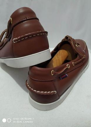 Кожаные туфли, мокасины, топсайдеры authentic sebago docksides3 фото