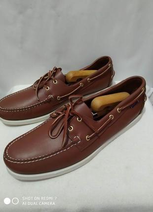 Кожаные туфли, мокасины, топсайдеры authentic sebago docksides1 фото