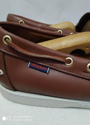 Кожаные туфли, мокасины, топсайдеры authentic sebago docksides5 фото