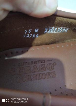 Кожаные туфли, мокасины, топсайдеры authentic sebago docksides7 фото