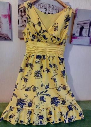 Легкое натуральное платьице италия
