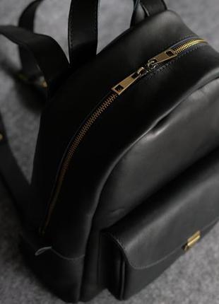 293146454254 ... Черный кожаный рюкзак среднего размера с потайным карманом k00028-63  фото ...