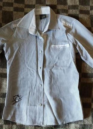 Рубашка в полоску на мальчика blueland.