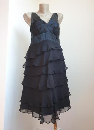 шелковое платье миди karen millen