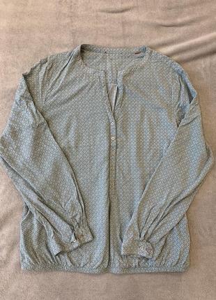 Блуза, рубашка из вискозы на резинке