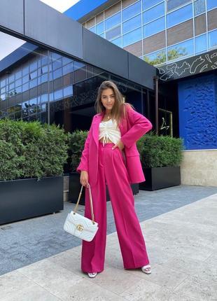 Костюм💖однобортный пиджак+брюки палаццо