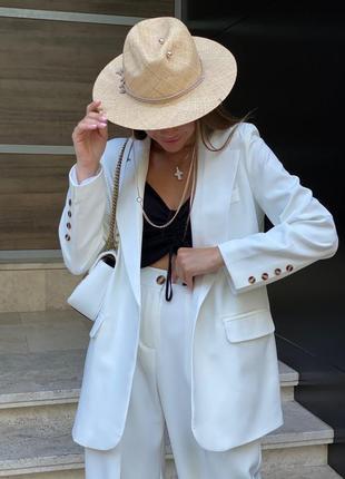 Костюм🤍однобортный пиджак+брюки палаццо