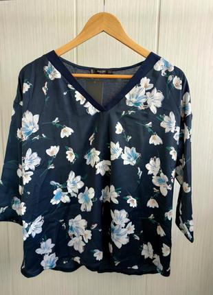 Новая блуза манго s/m цветочный принт
