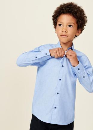 Стильная рубашка с рукавами от next, для мальчика 6-7 лет 122 рост.