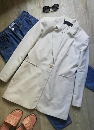 Стильный удлинённый пиджак свободного кроя, жакет, удлинённый блейзер, блейзер оверсайз, блейзер свободного кроя