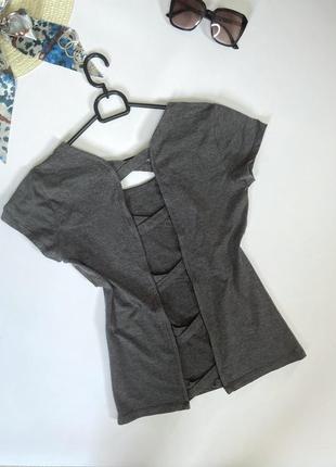 Хлопковая футболка с открытой спинкой, майка, топ
