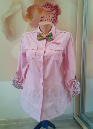 Фирменная женская рубашка. 100% хлопок. gina benotti. сток.