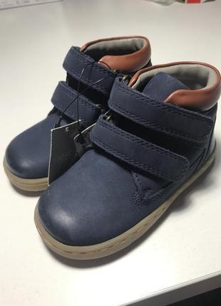 Классные ботинки для мальчика next натуральная кожа