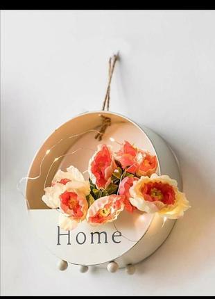 Настенная железная корзина для цветка