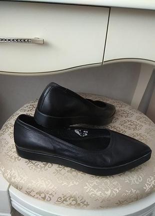 Кожанные балетки туфли 🖤