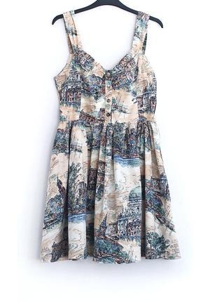 Хлопковое платье-сарафан new look с чудесным принтом