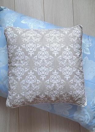 Набор 2 штуки: подушка перьевая + декоративная, перо