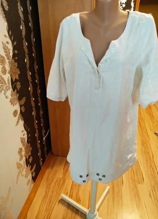 Стильная брендовая туника платье с карманами серебряная нить, 16-20