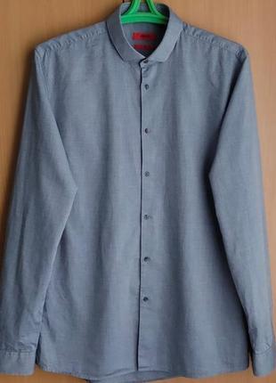 Фирменная рубашка от бренда hugo boss/germany/оригинал.